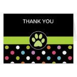El negocio del tema del mascota le agradece las ta tarjetas