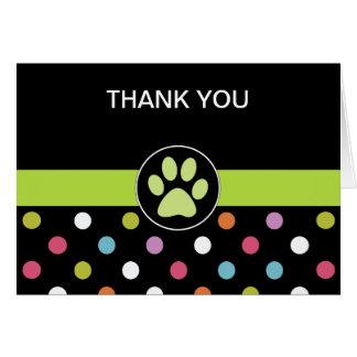 El negocio del tema del mascota le agradece las ta tarjeta pequeña