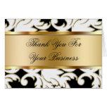 El negocio le agradece las tarjetas