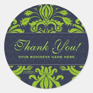 El negocio le agradece modificó verde de los etiquetas redondas