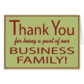 El negocio le agradece por ser una tarjeta de la p