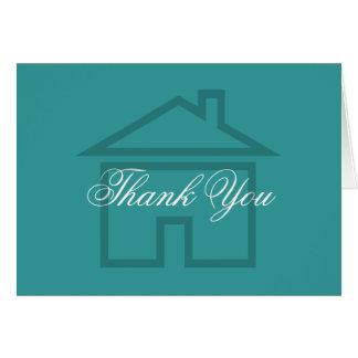 El negocio simple de las propiedades inmobiliarias tarjeta de felicitación