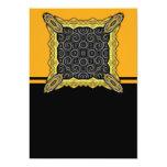 El negro agita grande invitación 12,7 x 17,8 cm