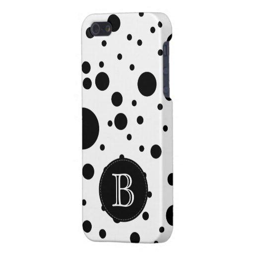 El negro al azar elegante puntea el caso del iPhon iPhone 5 Protectores