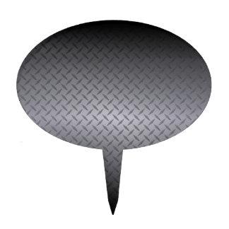 El negro al gris se descolora fondo del acero de D