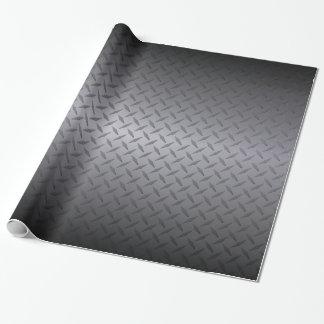 El negro al gris se descolora fondo del acero de papel de regalo