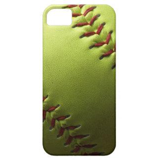 El negro amarillo del softball se descolora iPhone 5 carcasas