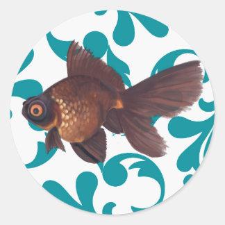 El negro amarra al pegatina del Goldfish