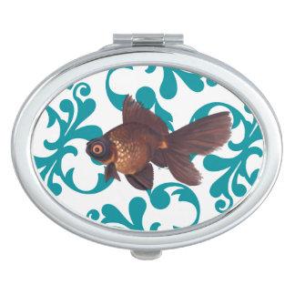 El negro amarra el Goldfish Espejos Maquillaje
