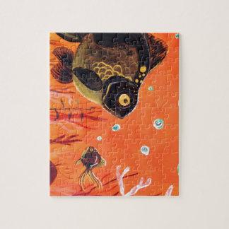 El negro amarra el Goldfish Rompecabezas Con Fotos