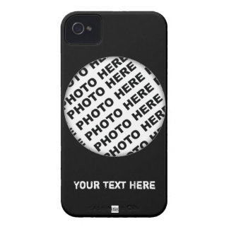 El negro añade la caja intrépida 1 de Blackberry iPhone 4 Case-Mate Cárcasa