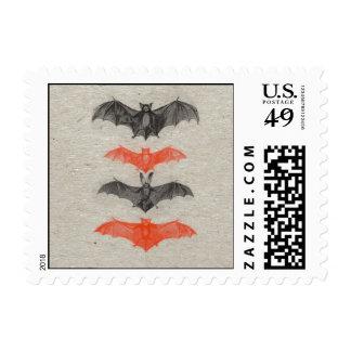 El negro anaranjado de Halloween golpea gótico Timbres Postales