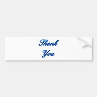 El negro azul le agradece diseñar el regalo de Zaz Pegatina Para Auto