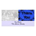 el negro azul le agradece tarjeta con foto personalizada