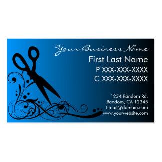 El negro azul se descolora las tarjetas de visita
