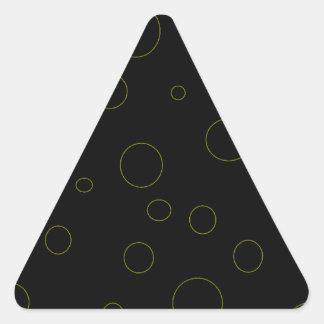 El negro burbujea moderno urbano pegatina triangular