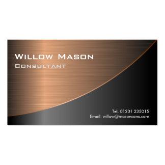 El negro cepilló haber curvado de cobre, tarjeta tarjetas de visita