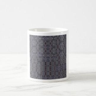 El negro circula el collage 2 taza básica blanca
