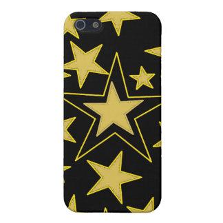 El negro con oro protagoniza la caja de la mota iPhone 5 carcasa