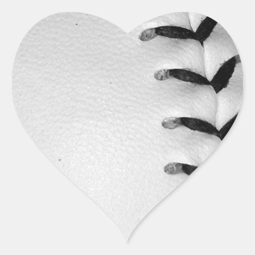 El negro cose béisbol/softball pegatinas corazon personalizadas