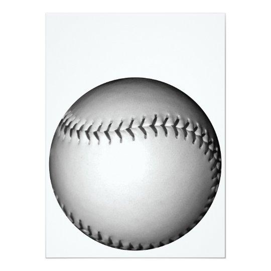 """El negro cose softball/béisbol invitación 5.5"""" x 7.5"""""""