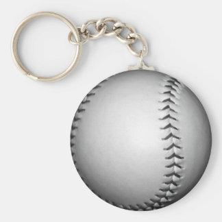 El negro cose softball/béisbol llavero redondo tipo pin