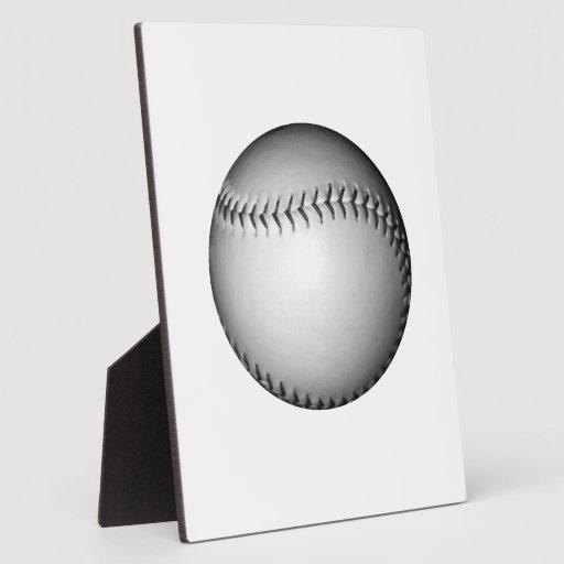 El negro cose softball/béisbol placas con fotos