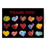 El negro de 15 corazones del amor le agradece card tarjeta