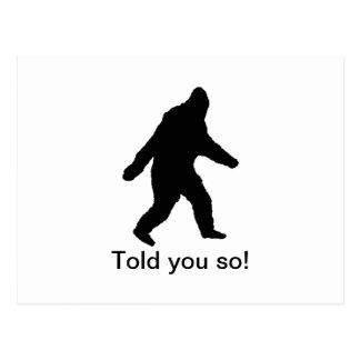 ¡El negro de Bigfoot que caminaba le dijo tan! Tarjetas Postales