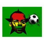 El negro de Ghana protagoniza el fútbol África Postal