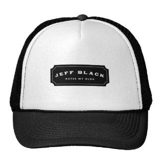 El negro de Jeff odia mi blog (el logotipo negro) Gorros Bordados