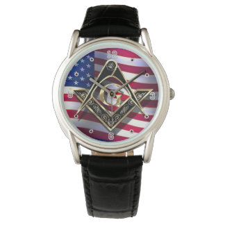 El negro de McKim/cuadrado y compases del oro Reloj