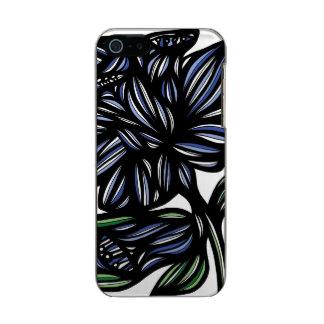 El negro del amarillo del verde azul florece el funda para iPhone 5 incipio feather shine