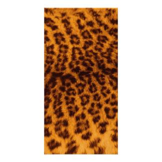 El negro del estampado leopardo manchó la tarjetas fotográficas personalizadas