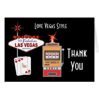 El negro del estilo de Vegas del amor le agradece  Tarjeta Pequeña