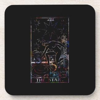 El negro del fiesta de Tarot de la estrella Posavasos