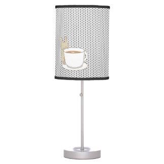 El negro del tiempo del té del conejito lindo punt lámpara de escritorio