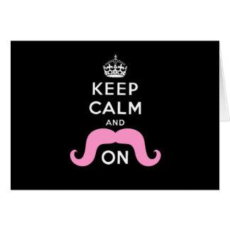 El negro divertido, rosa guarda calma y el bigote  tarjetón