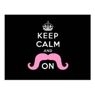 El negro divertido, rosa guarda calma y el bigote  postales
