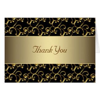 El negro elegante y el oro le agradecen felicitacion