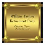 El negro elegante y el oro sirve al fiesta de invitaciones personalizada