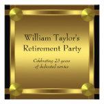 El negro elegante y el oro sirve al fiesta de reti invitaciones personalizada