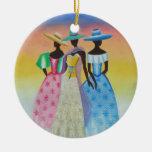 El negro es arte afroamericano hermoso ornamentos de reyes magos