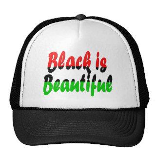 El negro es bandera Cacerola-Africana hermosa Gorras De Camionero