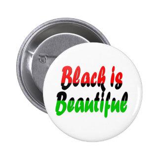 El negro es bandera Cacerola-Africana hermosa Pin Redondo De 2 Pulgadas