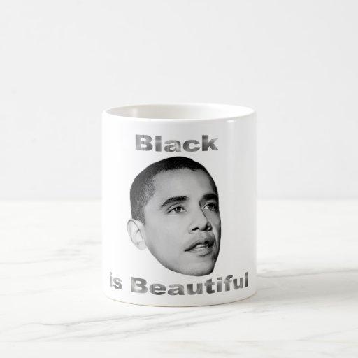 El negro es Beautiful.Mug Taza De Café