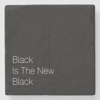 """El """"negro es el nuevo negro """" posavasos de piedra"""