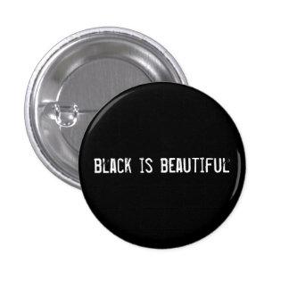 el negro es hermoso pin redondo de 1 pulgada