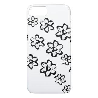 El negro florece la caja del iPhone 7 Funda iPhone 7