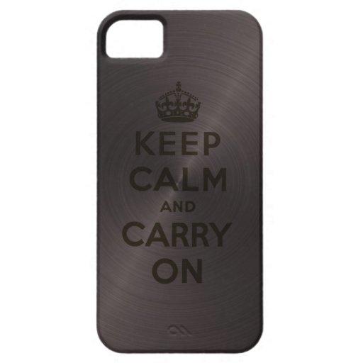 El negro fresco guarda calma y continúa funda para iPhone 5 barely there
